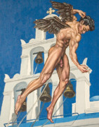 Physique Paintings - Archangel by The Artist Dana