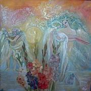 Gladiolas Paintings - Archangels by Norah Joy Clydesdale