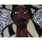African Cloth Doll Sculptures - Archeangel Theodore by Cassandra George Sturges