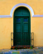 Old San Juan Photo Prints - Arched Doorway Print by Perry Webster