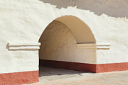 Building Feature Framed Prints - Arched Tunnel Doorway In Adobe Mission Framed Print by Douglas Orton