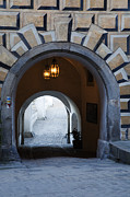 Cesky Krumlov Framed Prints - Arched Walkway Framed Print by David Buffington
