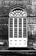 Photocopy Metal Prints - Arched White Shuttered Window French Quarter New Orleans Photocopy Digital Art  Metal Print by Shawn OBrien