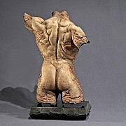 Brick Sculptures - Archers Back fragment by Jeff Hall