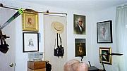Studio Drawings Framed Prints - Archery and Art and Camera and HistoryPart of my studio Framed Print by Mahto Hogue