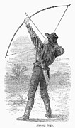 1880s Prints - ARCHERY, c1880s Print by Granger