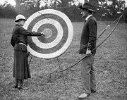 Archery Art - Archery Practice by A R Tanner
