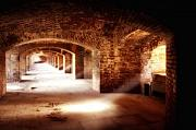 Dry Tortugas Photo Prints - Arches and Beaming Light  Print by George Oze