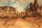 National Park Drawings - Arches National Park Utah - Landscape by Peter Art Prints Posters Gallery