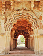 Karnataka Art - Arches Of Lotus Mahal, Hampi, Karnataka by Mukul Banerjee Photography