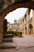 San Jose Prints - Arches of Mission San Jose Print by Iris Greenwell