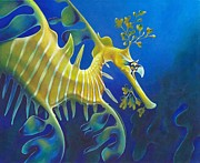 Seadragon Framed Prints - Archetypal Improvisation Framed Print by Sym