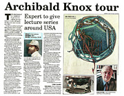 Purchase Mixed Media Posters - Archibald Knox - News article Poster by ArtworkX of Mann