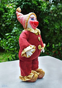 Clown Sculpture Framed Prints - Archie Comes Home Framed Print by David Wiles