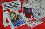 Sports Legends Paintings - Archie Griffin by Bill Dinkins