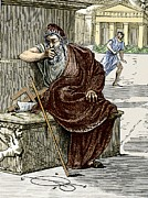 Pondering Prints - Archimedes During The Sack Of Syracuse Print by Sheila Terry