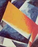 Composition Painting Prints - Architectonic Composition Print by Lyubov Sergeevna Popova