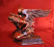 Oil Sculpture Prints - Architectural Angel Print by Larkin Chollar