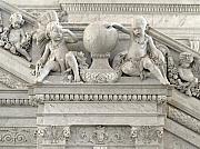 Library Of Congress Photos - Architectural Detail at the LIbrary of Congress in Washington DC by Carol M Highsmith