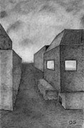 Buildings Drawings - Architectural Drawing by Dave Gordon