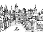 Turn Of The Century Drawings - Architectural Evolution in an Urban Landscape 8 by James Falciano