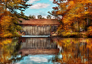 Fall Scenes Acrylic Prints - Architecture - Bridges - Worn out but still used Acrylic Print by Mike Savad