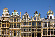 Town Square Prints - Architecture In Brussels Print by Visions Of Our Land