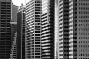 Chuck Kuhn Metal Prints - Architecture NYC BW Metal Print by Chuck Kuhn