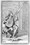 Lutenist Photo Framed Prints - Archlute, 1723 Framed Print by Granger