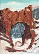 Rock Shapes Paintings - Archway Rock by Suzanne  Marie Leclair