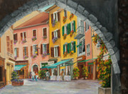 Annecy France Art Gallery Paintings - Archway To Annecys Side Streets by Charlotte Blanchard