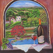 Autumn Vineyards Paintings - Archway to Elegance by Mikki Alhart