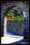 Historic Site Posters - Archway to Great Wall Poster by Carol Groenen