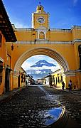 Refection Prints - Arco de Antigua Print by Skip Hunt