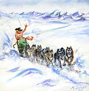 Team Paintings - Arctic Cowboy by Margaret Donat