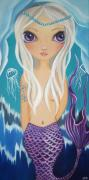 Blue Eyed Girl Prints - Arctic Mermaid Print by Jaz Higgins