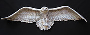 Realism  Sculpture Originals - Arctic Owl by Janet Knocke