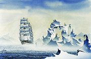 Nautical Greeting Card Prints - Arctic Seas Print by James Williamson