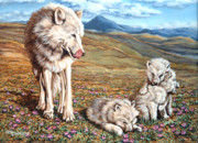 Cubs Painting Originals - Arctic Summer by Richard De Wolfe