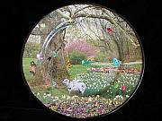 Animals Glass Art - Ardent Spring by Sarah Wharton White