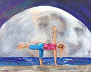 Yoga Pose Paintings - Ardha Chandrasana by Valerie Twomey