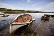 Docked Boats Prints - Ardminish, Isle Of Gigha, Scotland Print by John Short