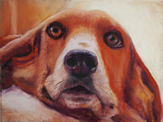 Custom Pet Portrait Pastels Acrylic Prints - Are You Talking To Me Acrylic Print by Billie J Colson