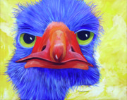 Birds Painting Originals - Are You Talking to Me by Micheal Hammons