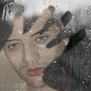 Shower Digital Art - Are you there? by Silvia Dobreva