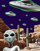 X Files Digital Art - Area 51 by Keith Dillon
