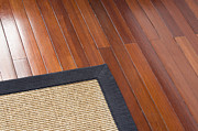 Hardwood Floor Prints - Area Rug on Wood Floor Print by Shannon Fagan
