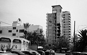Gaszimagusa Prints - Area Surrounding Varosha Forbidden Zone With Salaminia Tower Hotel Abandoned In 1974 Print by Joe Fox
