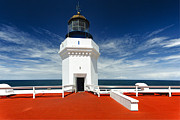 Red Roof Prints - Arecibo Lighthouse Print by George Oze
