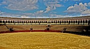 Traditionell Metal Prints - Arena de Toros - Sevilla Metal Print by Juergen Weiss